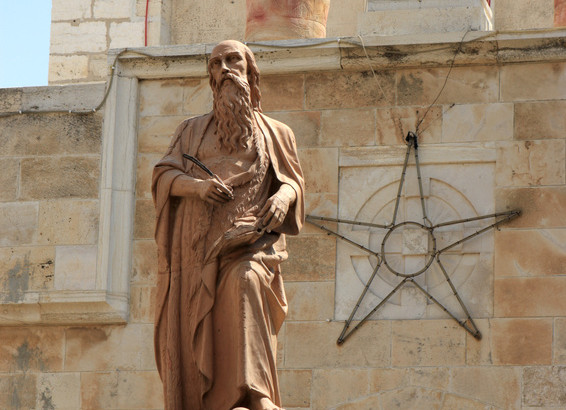 The statues of St. Jerome in Bethlehem